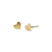 Kris Nations Heart Stud Earrings