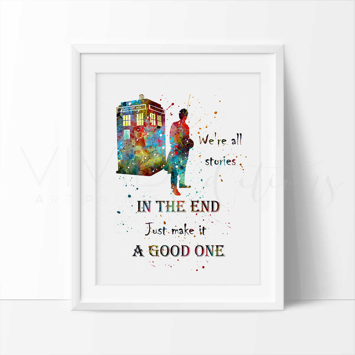 Image of Tardis, Doctor Who Quote