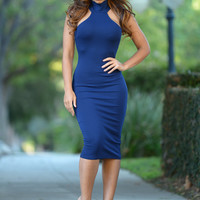 Amelie Dress - Navy