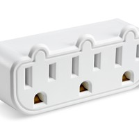 Dorm Essentials 3 Outlet Triple Tap Adapter