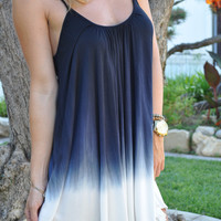 Tie Dye Low Back Dress