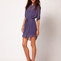 Warehouse Bias Cut Shirt Dress at asos.com