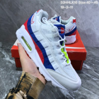 HCXX N929 Nike Air Max 95 TT Pack air cushion casual sports Running Shoes White Blue Red
