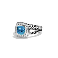 Petite Albion Ring with Blue Topaz and Diamonds - David Yurman