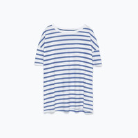 Striped print t-shirt