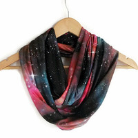 Galaxy Scarf Milky Way, Space Jersey Infinity Scarf Lightweight Cosmo Galaxy, Winter Trends