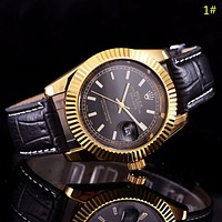 Rolex New fashion leather watchband couple watch wristwatch 1#