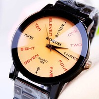 Good Price Gift Trendy Great Deal Designer's Stylish New Arrival Awesome Strong Character Innovative Men Stainless Steel Band Watch [8863718087]