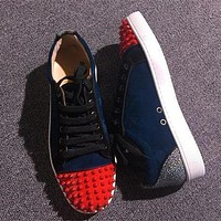 Christian Louboutin CL Low Style #2056 Sneakers Fashion Shoes Online