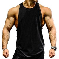 Mens Gym Tank Tops Muscle Cut Stringer Bodybuilding Workout Sleeveless Gym Shirts