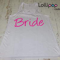 Bride Tank top. Future Mrs. Bride to be tank top. wedding gift. bridal shower .Bachelorette party. Workout tank top.Running crossfit top.