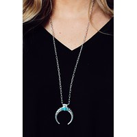 Now Or Never Necklace: Silver/Turquoise
