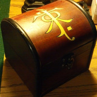 JRR Tolkien inspired Small Keepsake Chest - The Hobbit - Lord of the Rings box wood burned