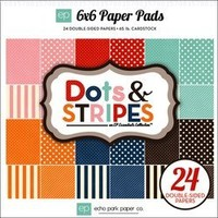 Echo Park Paper Dots and Stripes Homefront 6 by 6-Inch Paper Pad