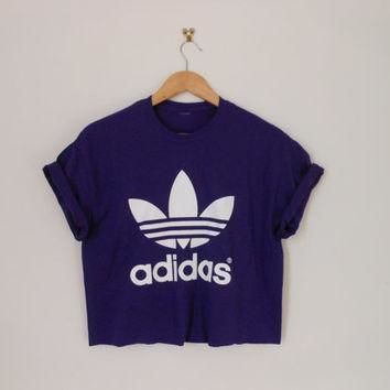 classic purple swag style classic adidas crop top tshirt fresh boss dope celebrity fes