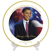 OBAMA HISTORIC VICTORY PLATE