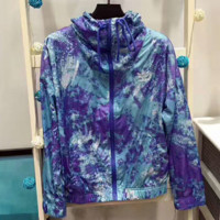 ADIDAS print stripe hooded charge sports wear dust coat  thin section  G-A-XYCL