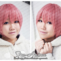 Mixed Smoky Pink Short Straight Cosplay Wig - $18.40 : FM-Anime.com Cosplay & BJD Online shop - Bring the best cosplay for you !