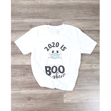 Distracted - 2020 is Boo Sheet Graphic Tee in White