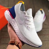 NIKE Odyssey React New fashion hook mesh sports running couple shoes White
