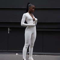 Long Sleeves Skinny Sports Jumpsuits