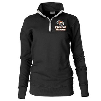 Official NCAA University of the Pacific Tigers - PPPAC02 Unisex 1/4 Zip Up Fleece Pullover