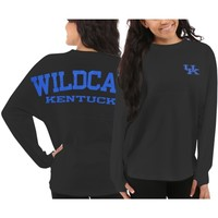 Women's Kentucky Wildcats Gray Sweeper Long Sleeve Top