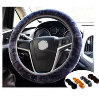 Soft Plush Car Auto Steering Wheel Cover Solid Winter Grips Car Accessory 34cm = 1946268868