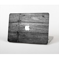 The Gray Worn Wooden Planks Skin Set for the Apple MacBook Air 13""