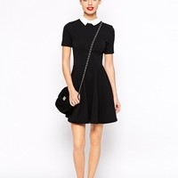New Look Textured Skater Dress