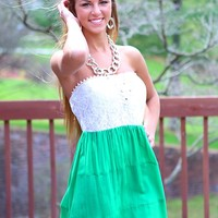 Vacation Bound Dress in Green