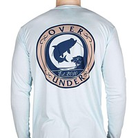 Tarpon Performance Long Sleeve Tee in Arctic Blue by Over Under Clothing