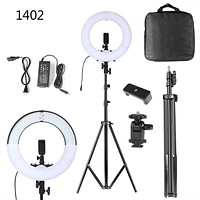 14inch Dimmable LED Ring Light With Phone Holder 180 LEDs SMD Ring Light 45W Photo Video Studio LED Lamp Camera Stand