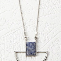 Geo Faux Stone Pendant Necklace