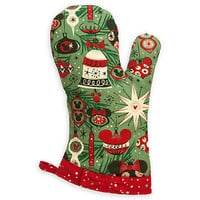 disney parks holiday christmas mickey minnie oven mitt new with tag