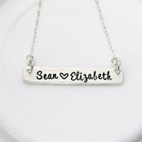 Bar Necklace - Name Necklace - Sterling Silver Nameplate - Personalized Jewelry