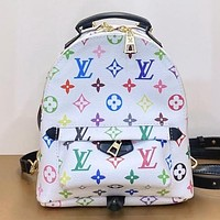 LV New fashion monogram leather shoulder bag handbag backpack bag White