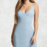 Sheer Ribbed Cami Dress