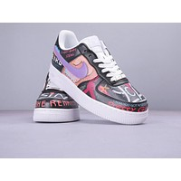 Nike Air Force fashion couple graffiti painted hip hop sneakers #4