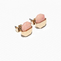 & Other Stories   Stone Stud Earrings   Light Pink