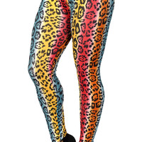BadAssLeggings Women's Gradient Cheetah Leggings Medium