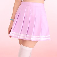 Glitters For Dinner — Made To Order - Pastel Purple Cheerleading Skirt