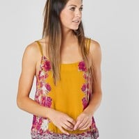 Free People Move Lightly Satin Tank Top - Women's Tank Tops in Yellow | Buckle