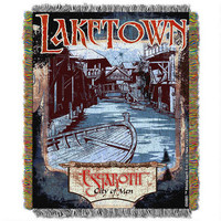 The Hobbit: The Desolation of Smaug Laketown Tapestry Throw Blanket