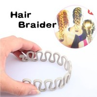 Vktech Hair Braider Twist Styling Braid Tool Magic Wonder Holder Clip DIY French