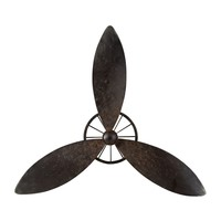 Industrial Fan Blade Wall Décor Restoration Rusted Black