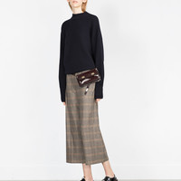 HIGH WAIST CROPPED CHECK TROUSERS
