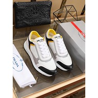 prada men fashion boots fashionable casual leather breathable sneakers running shoes 127