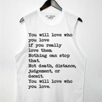 YOU WILL LOVE WHO YOU LOVE Unisex Muscle Tee