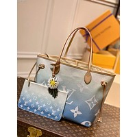 LV Louis Vuitton 2021 NEW ARRIVALS MONOGRAM LEATHER BY THE POOL NEVERFULL TOTE BAG SHOULDER BAG